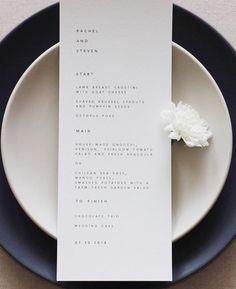 Nice minimalist menu