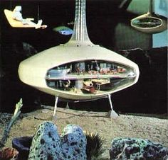 Undersea hotel as forecast in Futurama at the 1964 New York World's Fair.