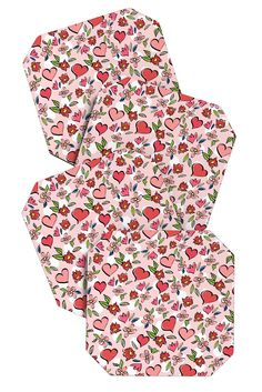 Lisa Argyropoulos Love Flowers And Dots Coaster Set | DENY Designs Home Accessories