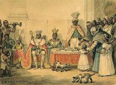 African Nobles holding court in Europe