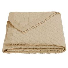 Delectably-Yours.com Khaki Linen Quilt Blanket by HiEnd Accents