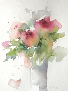 """Daily Paintworks - """"Graceful Fading"""" - Original Fine Art for Sale - © Anne Ducrot Watercolor Paintings Abstract, Watercolor Cards, Watercolor Illustration, Watercolor Flowers, Floral Paintings, Watercolor Artists, Indian Paintings, Abstract Oil, Oil Paintings"""
