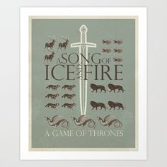 Game Of Thrones Art Print by Greg-guillemin