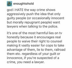 I hate those real crime shows too like 20/20 and Nancy Grace. Whenever someone is accused they attack them and act like normal things, like a husband being friends with his ex, are warning signs.