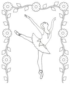 free printable ballet coloring pages for kids - Ballet Coloring Sheets