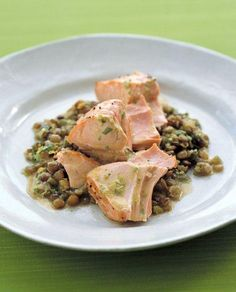 Roasted Salmon With Lentils -- ready to eat in under 45 minutes!