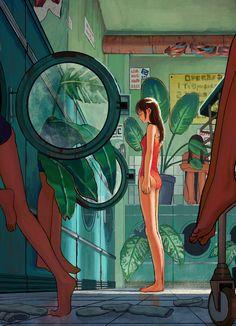 The World Of Illustrious Illustrations To Keep You Occupied - Bored Art Kunst Inspo, Art Inspo, Art And Illustration, Anime Kunst, Anime Art, Pretty Art, Cute Art, Art Graphique, Aesthetic Art
