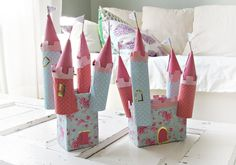 DIY Up-Cycled Paper Roll Wallpaper Castles
