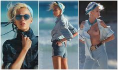 """Blue Jeans""  Anja Rubik para as lentes de Hans Feurer - Vogue Paris Abril 2012"