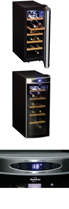 Koolatron WC12-35D Black 12 Bottle Deluxe Wine Cellar Holds up to 12 bottles. Double tempered glass door. Adjustable temperature control. Advanced heat dissipation system. No noisy compressor, no vibration.  #Koolatron #Major_Appliances