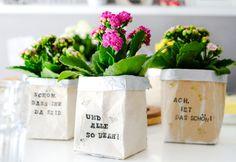 Bestempelter DIY Milchtüten Blumentopf, Upcycling Idee, Material & Anleitung | waseigenes.com Easy Family Meals, Easy Meals, Healty Dinner, Vegan Recipes, Dinner Recipes, Creative, Super, Food, Diys