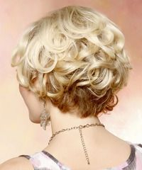 Formal Short Curly Hairstyle - back