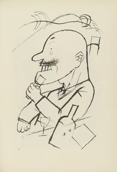 George Grosz. Plate 35 from Ecce Homo. 1922-1923 (reproduced drawings and watercolors executed 1915-22)