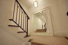 Inspirations on Decorating Staircases with Mirrors