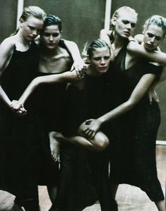 """Enchanting Mood"" in Vogue Italia september 1997 by Peter Lindbergh."