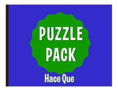 Puzzle packs are a fun, no prep way to review! With a variety of puzzles, you can allow students to differentiate by learning style or difficulty level. They also make great sub plans  the whole packet can easily fill an hour! All puzzles have been solved and checked and answer keys are included.This puzzle pack includes:1 crossword puzzle1 word search1 word scramble2 challenge puzzlesThis pack reviews hace...