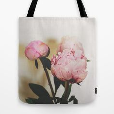 Pale Peonies Tote Bag by Sweet Eventide by Jessica Nichols - $22.00