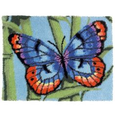 Mary Maxim - Brilliant Butterfly Latch Hook Rug Kit - Latch Hook Rug Kits - Latch Hook - Crafts