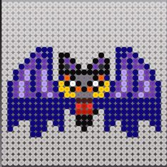 Halloween bat perler bead pattern