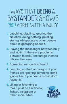Download the poster. #bullying
