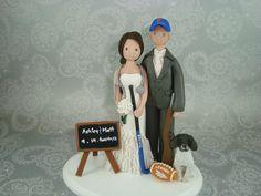 Custom Handmade Bride & Groom Wedding Cake Topper