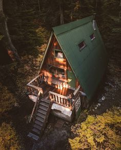 "16.9k Likes, 84 Comments - The Cabin Chronicles™ (@thecabinchronicles) on Instagram: ""Cabin in the woods, elevated. : @bryanadamc #thecabinchronicles"""