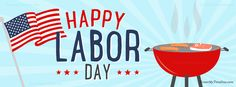 Happy Labor Day Cookout / Grill Facebook Timeline Cover / Covers at www.CoverMyTimeline.com! #LaborDay #Labor #DayOff #Chillin #America