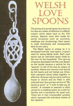 Welsh Love Spoon-we visited where they make the Love Spoons. The history behind this was very interesting, have a very pretty spoon hanging on my wall from our trip.