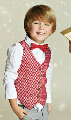 Sweet, handsome and dressed to the nines.  This Silver Cherry Holiday Vest for baby, toddler and little boys will bring a festive vibrant touch to little boys holiday outfits.  Button front closure ensures easy dressing.  Perfect for Christmas photos, holiday parties and Christmas Day.