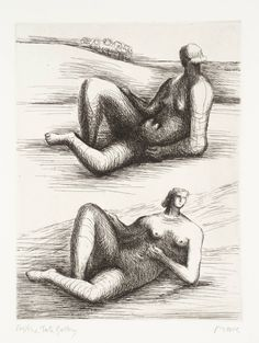 Artwork page for 'Two Reclining Figures', Henry Moore OM, CH, published 1979 Abstract Sculpture, Sculpture Art, Metal Sculptures, Bronze Sculpture, Collage Drawing, Art Drawings, Life Drawing, Figure Drawing, Henry Moore Drawings