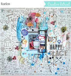 creative retreat embellishment kit layout