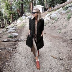 Glamping in Sequoia National Park Blue Oxford Shirt, Coats For Women, Clothes For Women, Sequoia National Park, Glamping, Amazing Women, What To Wear, Cool Outfits, Dior