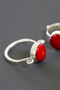 Silver and Coral Ring. Repin and shop at http://manjjaro.com/ #shop #design #africa