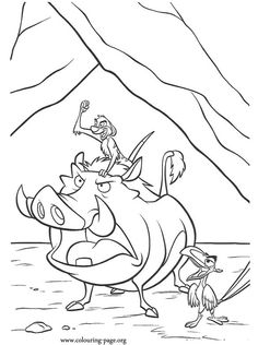 What an awesome coloring page with Timon, Pumbaa and Zazu! They are some of my favorites characters from the film The Lion King. Enjoy!