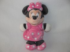 """MInnie Mouse Muted Dream Clubhouse Cuddle Plush Stuffed Toy 13"""" Disney Baby Pink #DisneyDreamInternational"""