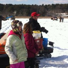 Kids compete to catch fish at annual Phippsburg ice derby