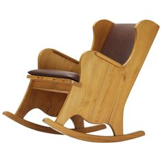 Lovo Rocking Chair by Alex Einar Hjorth for Nordiska Kompaniets Verkstäder  | 1stdibs.com