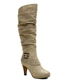 This Light Gray Studded Sandra Boot is perfect! #zulilyfinds  $24.99
