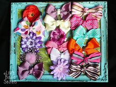 Another Great Frame Hair Bow Holder Tutorial