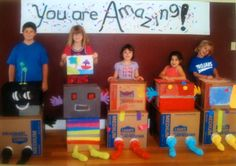 Saturday art workshop for kids 'Monsters and Robots' was the theme. @TaDa art studio in Marble Falls, TX