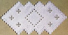 "White on white. Finished size 7-1/2"" x 13-1/2"". Kit includes Beginners Charted book, 22 count fabric, pearl cotton sizes"