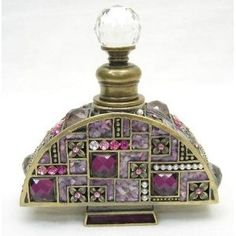 Welforth Fine Pewter Purple Arch Perfume Bottle - Would love this on my dresser.