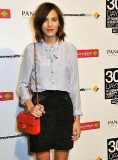 7ce865b2c6283 Alexa Chung in Princess Polly Sea Breeze Shirt by Miss Unkon