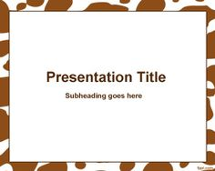 Brown Spots Frame PowerPoint template is a white background for PowerPoint presentations with brown spot effects in the slide design
