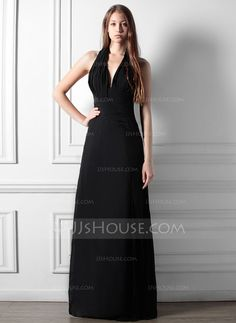 Bridesmaid Dresses - $116.99 - A-Line/Princess Halter Floor-Length Chiffon Bridesmaid Dress With Ruffle (007013634) http://jjshouse.com/A-Line-Princess-Halter-Floor-Length-Chiffon-Bridesmaid-Dress-With-Ruffle-007013634-g13634