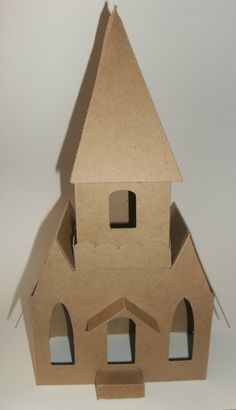 Putz Style Houses Large Vintage Church with by littlevillagehouses