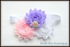 Easter Egg Headband, Pastel, Pink, Lavender, Rhinestone, First Easter, Easter Headband for Newborn, Baby, Toddlers, Kids, Teens, Adults by RocktheBowtique on Etsy
