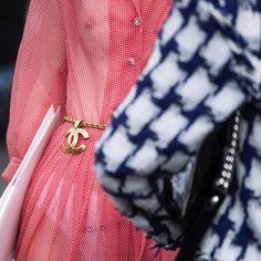 Reese Blutstein (@double3xposure) in sheer Chanel dress + belt chain