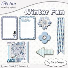 #Frozen Digital Scrapbook Freebie #Winter #Blue #Ice #Free