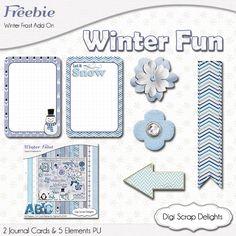#Frozen Digital Scrapbook Freebie #Winter #Blue #Ice #Free